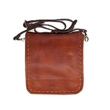 کیف دوشی مردانه چرم طبیعی گاوی دستدوز CHD0012
