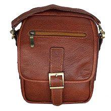 کیف دوشی مردانه چرمی دستدوز کد CHD0013